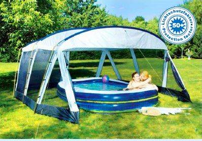 xxl pool pavillon 500x433x235cm zelt festzelt garten ebay. Black Bedroom Furniture Sets. Home Design Ideas